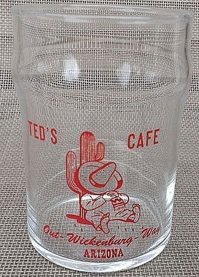 Ted's Cafe Out Wickenburg Way Vintage Juice Glass