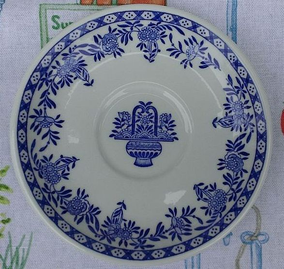 Jackson China Blue Delft Saucer Set
