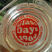 "Indiana Glass Company ""Glass Days 1984"" Ashtray"