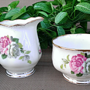 "Royal Albert ""Evening Rhapsody"" Creamer & Sugar Set"