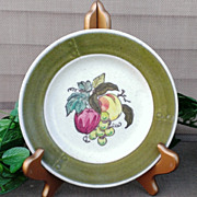 Metlox Poppytrail Provincial  Fruit Bread & Butter Plate Set Green Border