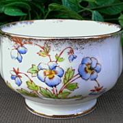 Royal Albert Blue Pansy Open Sugar Pattern # 8552