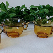 Cambridge Decagon Amber Glass Set