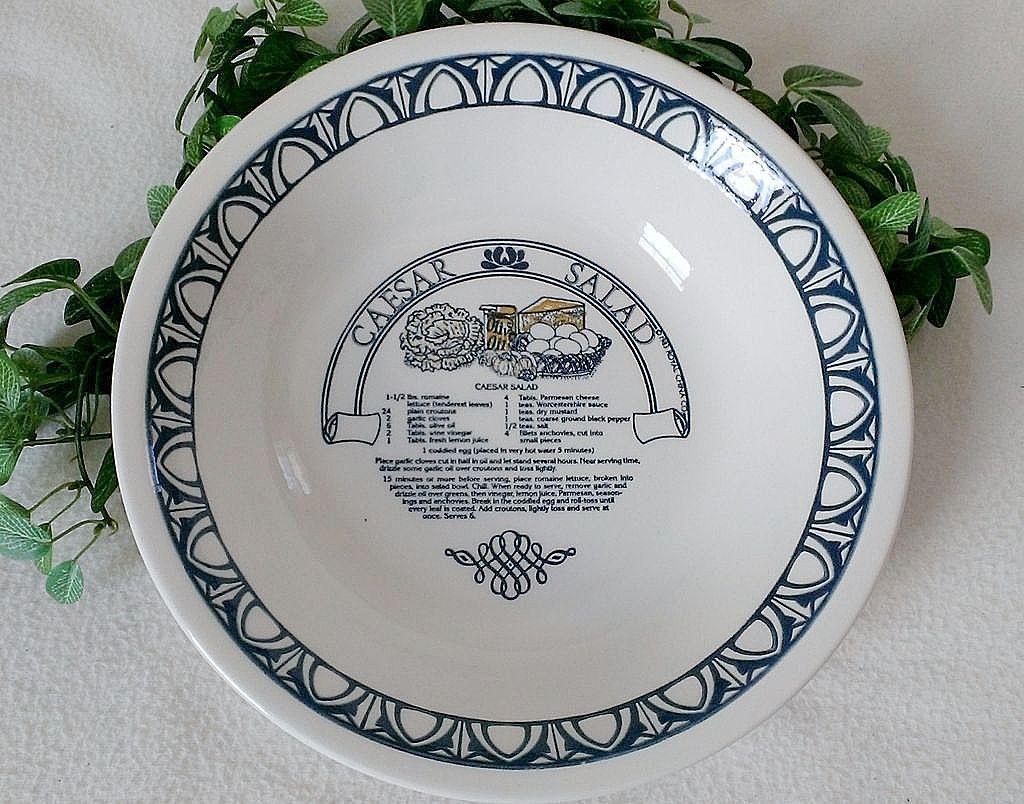 Royal China Garden Classics Cesar Salad Recipe Bowl