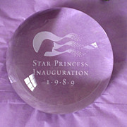 Star Princess 1989 Inauguration Paperweight Ship Memorabilia