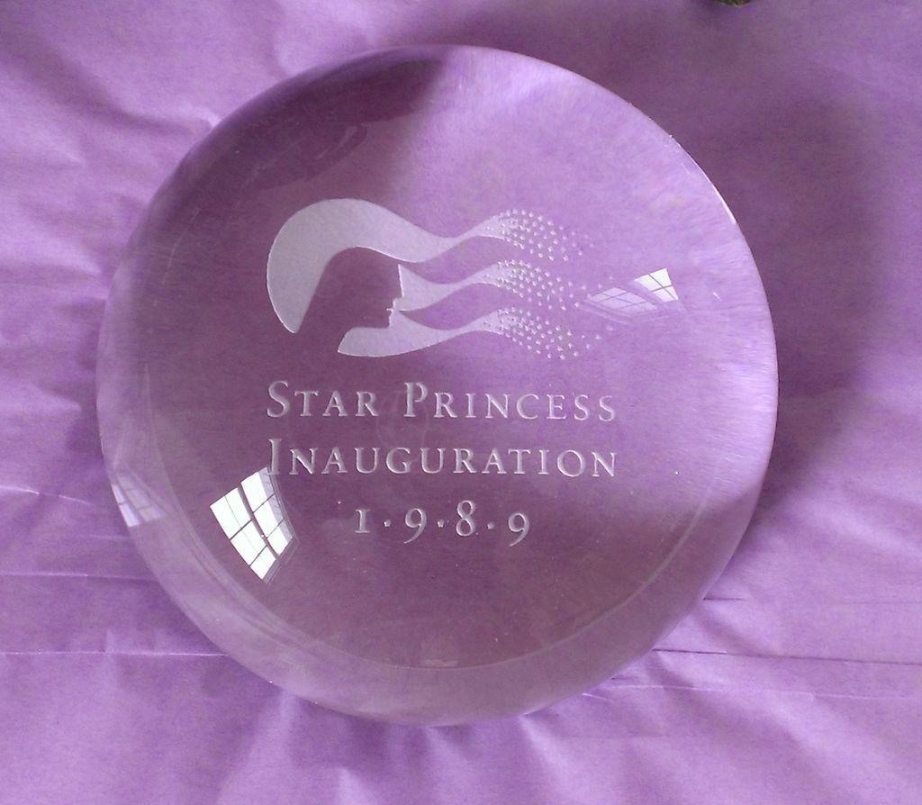 Star Princess 1989 Inauguration Paperweight Ship Memorabilia