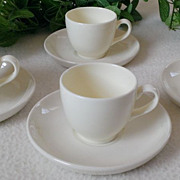 Royal Sphinx, Petrus Regout & Co. White Demitasse Set Holland