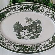 Syracuse (O.P.CO.) China Mayfair Green Serving Platter