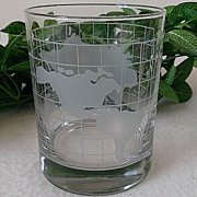 Nestle Nescafe World Globe Old Fashion Glass