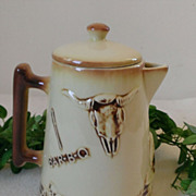 McCoy El Rancho Western BAR-B-Q Coffee Pot