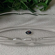 Heisey Glass Waverly Celery Dish / Vase