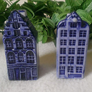 Elesva Holland Delft Blue Canal House Salt & Pepper Set