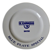 A Steak in the Neighborhood Boston Chop Blue Plate Special by Homer Laughlin
