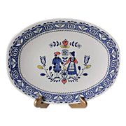 """Johnson Brothers Hearts & Flowers 12"""" Oval Serving Platter"""