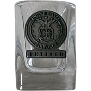 U.S. Air Force Retired Pewter Shot Glass
