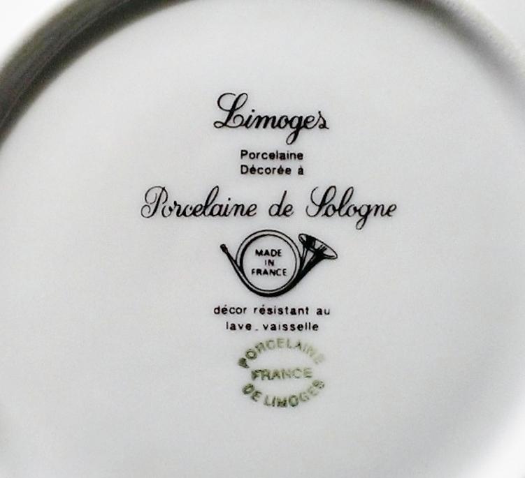 limoges porcelaine de sologne moi toi orphan saucer set from anniesavenue on ruby lane. Black Bedroom Furniture Sets. Home Design Ideas