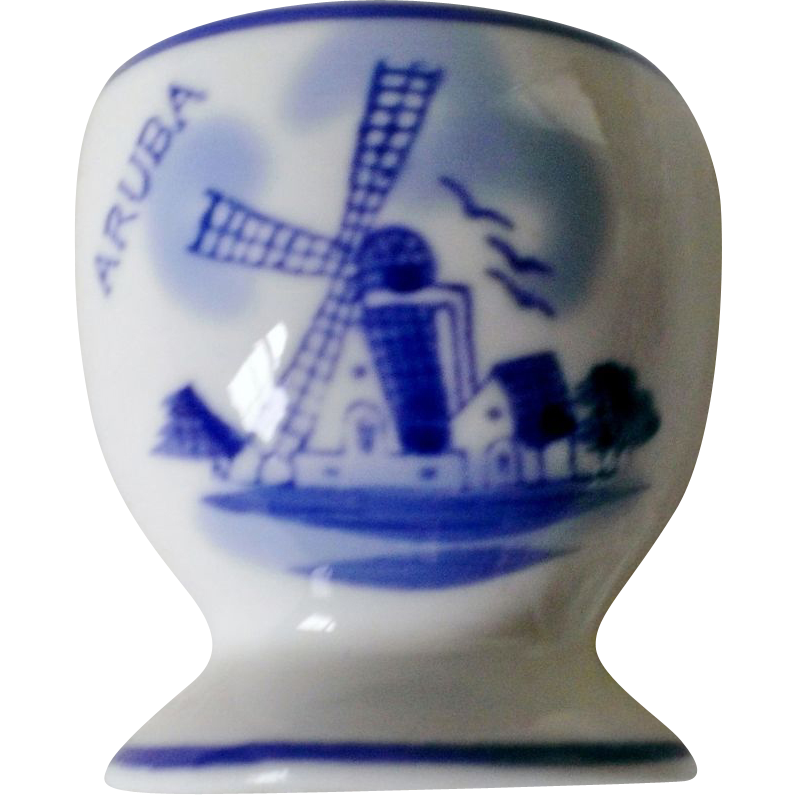 Hand Painted Delft Blue Cup