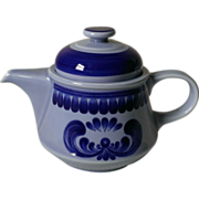 Kahla China GDR Blue Majolica Coffee Pot