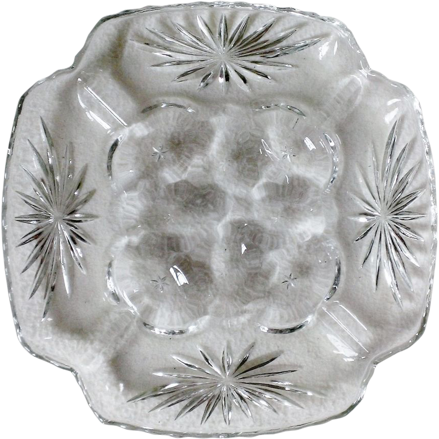Anchor Hocking EAPC Prescut Deviled Egg Plate & Relish Tray