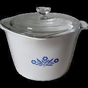 Corning Cornflower Blue Stove Top 2 Qt. Saucemaker w Lid & Grab Handle