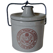 Wisconsin Heritage Cheese Stoneware Crock with U.S. Government Seal