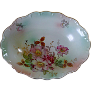 Schumann Arzberg Wild Rose Scalloped Oval Vegetable Bowl