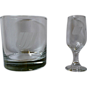 United Airlines Glassware Set of 3