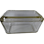 Vintage Pyrex Clear Glass Refrigerator Dish with Lid