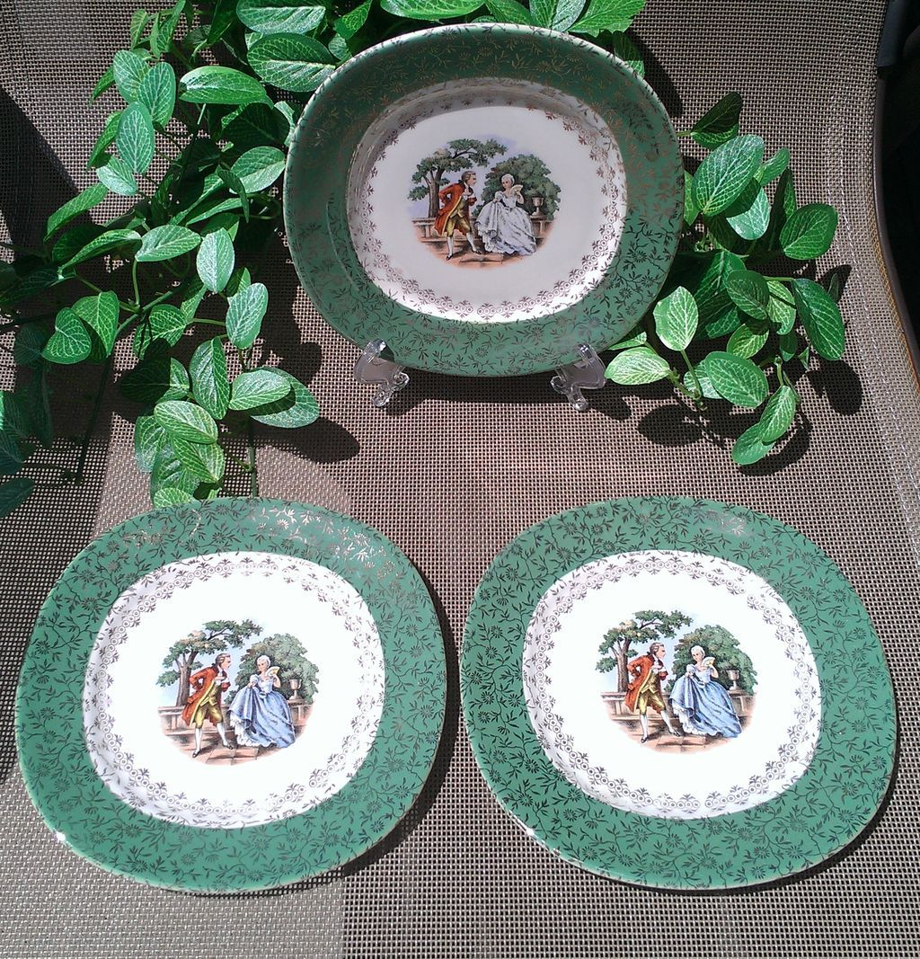Taylor Smith Taylor Colonial Couple Conversation 6 Piece Set Green