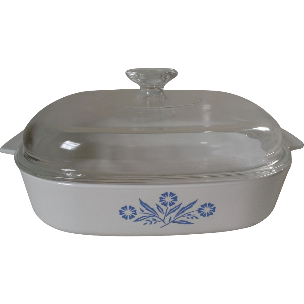 Corning Cornflower Blue Casserole ONLY (fits a A-12-C Lid)