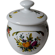 Gerold Porzellan Fruit Jam Pot with Lid West Germany #7883