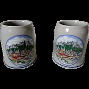 Salzburg Stoneware 1/2 Liter Beer Steins Set