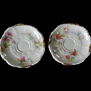 Charles Arenfeldt Limoges Orphaned Demitasse Saucers Daisy Floral Pattern Set