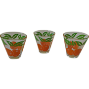 Vintage Anchor Hocking Tapered Orange Juice Glass Set
