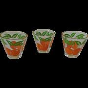 Vintage Anchor Hocking Tapered Orange Juice Glass Set