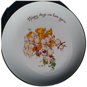 "Kewpie ""Happy Days Are Here Again"" Collector Plate with Box"