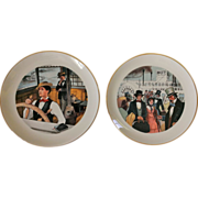 "Mark Twain ""Life on the Mississippi ""  Commemorative Plate Set by Ridgewood China"