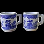 Blue Willow Coffee Mug Set by Buffalo China