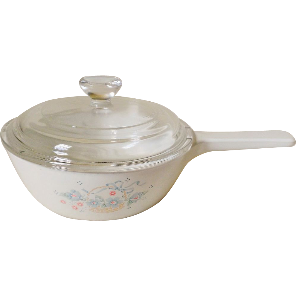 Corning Country Cornflower Menu-ette Sauce Pan with Lid
