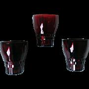 Royal Ruby Anchor Hocking Windsor Glass Set of 4