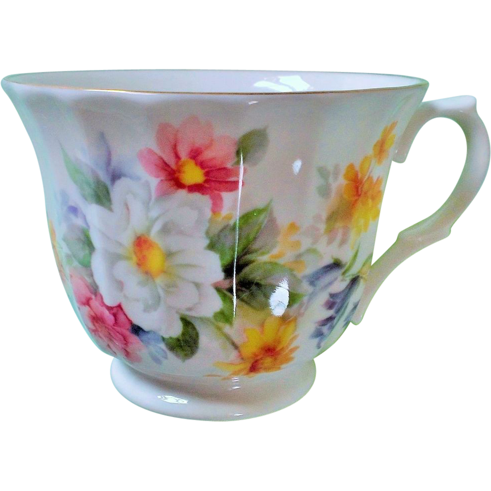 Crown Trent Floral Daisy Footed Cup