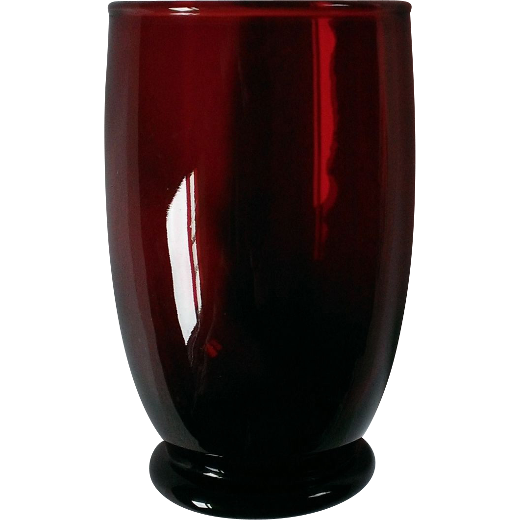 Anchor Hocking Royal Ruby Baltic Water Goblet