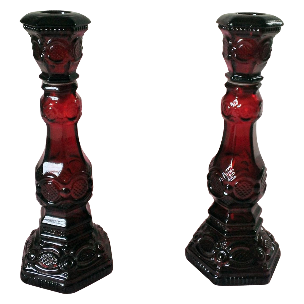 Avon 1876 Cape Cod Collection Candlestick Set