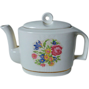 Harker Potteries Bakerite Petit Point Teapot 22K