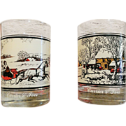 Currier & Ives Holiday Glass Set Arby's Collector's Series 1978