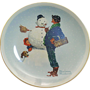 Norman Rockwell 1976 Winter Snow Sculpture Plate by Gorham