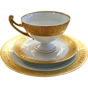 Royal Epiag Trio Set Egyptian Pattern with Gold 1945 - 1958
