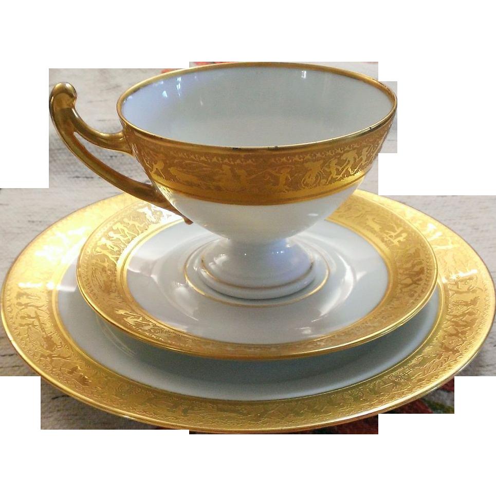 Royal Epiag Trio Set Egyptian Pattern with Gold 1945 - 1958