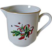 Salem China Christmas Eve Porcelain Creamer