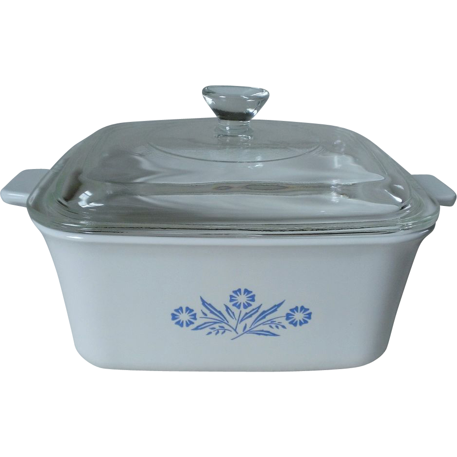 Corning Ware Cornflower Blue Loaf Baking Pan Casserole P-4-B